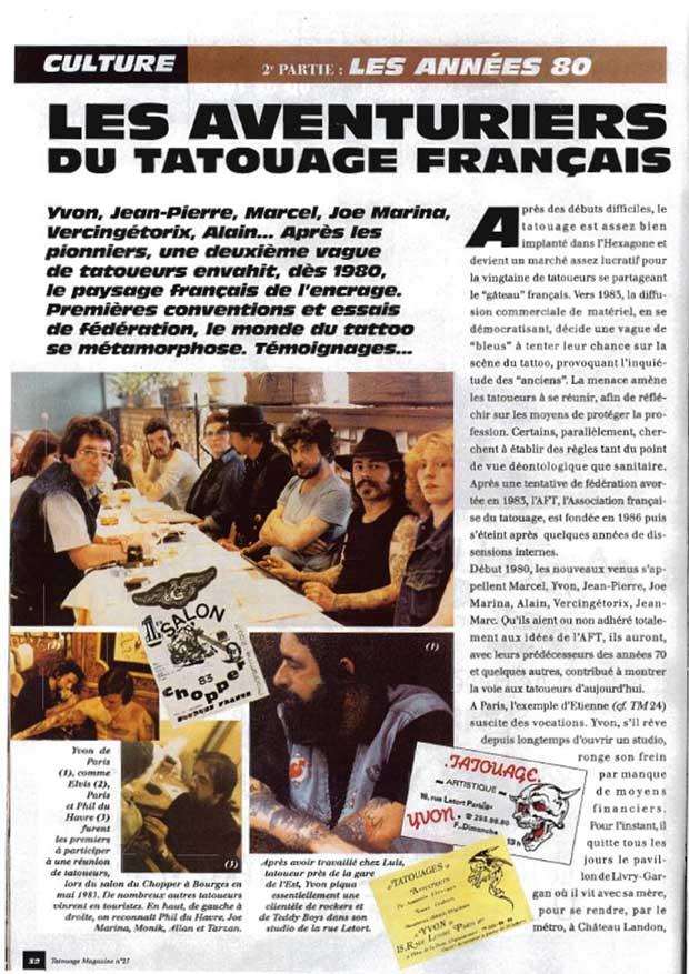 Les  aventuriers du tatouage à Nantes