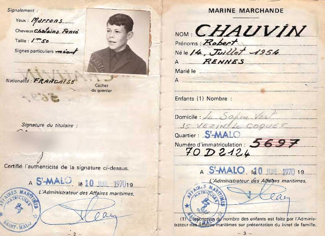 Carnet de marine 1970