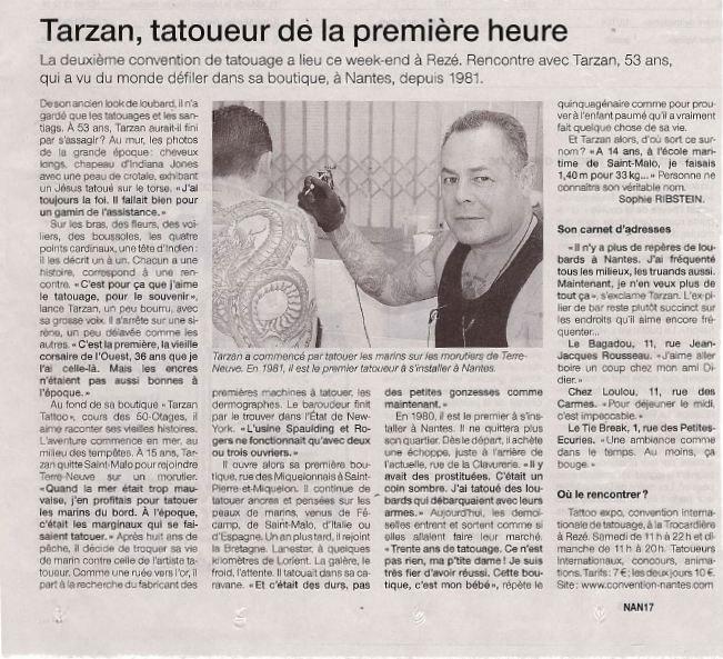 Tatoueur de la premi re heure tarzan tattoo for Nantes tattoo convention 2017