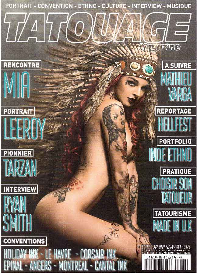 tatouage magazine septembre 2017 ⋆ tarzan tattoo