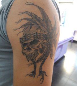 tatouage indien tête de mort